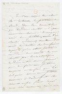 [Lettre autographe signée de Damoreau-Cinti à Le Borne (sans lieu ni date)] (manuscrit autographe)