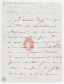 [Lettre autographe signée de Damoreau-Cinti (sans lieu), 19 janvier 1847] (manuscrit autographe)
