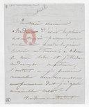 [Lettre autographe signée de Damoreau-Cinti (sans lieu) (sans date)] (manuscrit autographe)