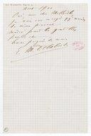 [Lettre autographe signée d'Elie M. Delaborde à Charles Malherbe (sans lieu), août 1900] (manuscrit autographe)