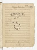 Gaudete In Domino semper. // Missa Brevis a piu stromenti, e quinque vocibus (manuscrit autographe)