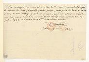 [Un reçu à Monsieur Seblesinger, 17 avril 1839] (manuscrit autographe)