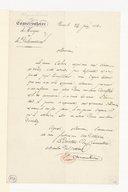 [Une lettre administrative signée, 24 juin 1841] (manuscrit autographe)