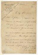 [Reçu d'un ouvrage rendu par Cherubini. Maison du Roi, Paris, 29 octobre 1833] (manuscrit autographe)