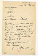 [Lettre de Camille Chevillard à Florent Schmitt, Paris, 20 octobre 1911] (manuscrit autographe)