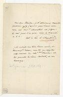 [Lettre de Luigi Cherubini à Monsieur Reicha, Janvier (1818-1819 ?)] (manuscrit autographe)