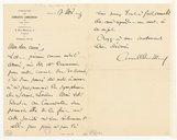 [Lettre de Camille Chevillard à Marcel Dupré, Paris, 17 novembre 1919] (manuscrit autographe)