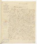 [Lettre de A. Choron à Monsieur Gilbert Duprez, 22 août 1831] (manuscrit autographe)
