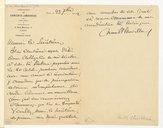 [Lettre de Camille Chevillard à Edouard Ganche, 23 septembre 1912] (manuscrit autographe)
