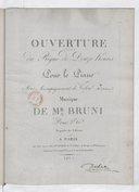 Le Règne de douze heures (Ouverture de) pour le piano avec accompagnement de violon ad. libitum