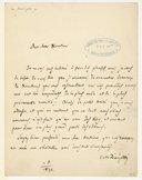 [Lettre de Gaetano Donizetti à Monsieur le Directeur, 1840]