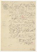 [2 papiers concernant des ouvrages cédés, 1839]
