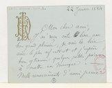 [Carte de Louis Diémer à Jules Barbier, 22 janvier 1884]