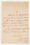 [Lettre autographe signée de Julie Dorus-Gras à Monsieur de Luzi (sans lieu ni date)]