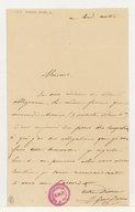 [Lettre autographe signée de Julie Dorus-Gras à Véron, directeur de l'Opéra (sans lieu ni date)]
