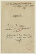 Canoni // a 3 Voci // di L. Cherubini (manuscrit autographe)
