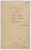 Trio // per il // Violino primo // Violino secondo // e // Cembalo // del Sigr: Bach