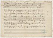 Rundgesang für eine Gesellschaft Studierender (: zu S. 117 :) J: M: Haydn [paraphe] (manuscrit autographe)
