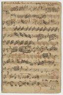 Klavier Sonata dem Herrn Baron von Ditmar zugeeichnet von dem Verfertiger C.P.E. Bach (manuscrit autographe)