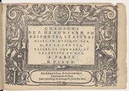 Chansons de P. de Ronsard, Ph. Desportes et autres mises en musique par N. de La Grotte, vallet de chambre, et organiste du Roy