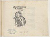 Canti. B. numero // Cinquanta. // B // [Au colophon] : Impssum Venetiis per octavianum Petrutium forosempronien // sem 1503 die 4 Augusti [Marque de Petrucci]