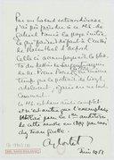 [Une note autographe/manuscrite du 7° Nocturne de Fauré, 1951] (manuscrit autographe)