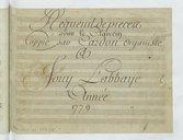 Requeuil de pieces // pour le Clavecin // Coppié par Cardon Organiste // A //Jouy L'abbaye // Année 1779