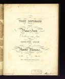 Trois rondeaux pour le piano-forté : N°2 : Op. 26 / par Amédée Méreaux ; dédiés à son ami Adolphe Adam
