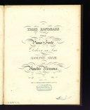 Trois rondeaux pour le piano-forté : N°3 : Op. 27 / par Amédée Méreaux ; dédiés à son ami Adolphe Adam