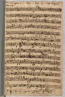 Sinfonia (manuscrit autographe) / A 2 violini e Basso per il Conte Schattgotsch