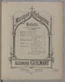 Motets à une ou plusieurs voix avec orgue / Alexandre Guilmant, organiste de la Trinité à Paris