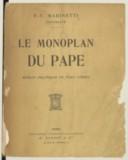 Le Monoplan du Pape , roman politique en vers libres