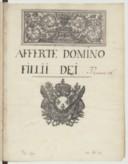 Afferté Domino fillii Dei // Pseaume 28 (manuscrit autographe)