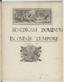Benedicam Dominum Pseaume 33e (manuscrit autographe)