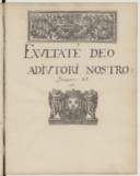 Exultate Deo adjutori nostro // Pseaume 80 (manuscrit autographe)