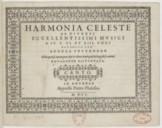Harmonia celeste de diversi eccellentissimi musici a IV. V. VI. et VIII. voci raccolta per Andrea Pevernage nella quale si contengono i più eccellenti madrigali che hoggidi si cantino. Novamente ristampata