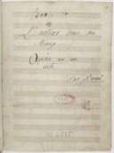 L'auteur dans son // Ménage // Opéra en un // acte://Par Bruni (manuscrit autographe)
