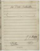 Les Deux Sentinelles // H. Berton (manuscrit autographe)