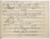 La Calamita de Cuori // Drama giocoso per Musica, rapprestato // Teatro dell'Anno 1755 // Musica // Del Sig.re Baldissera Galuppi // Detto Buranello // Sinfonia