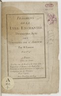 Fragmens de la Lyre enchantée, deuxième acte des Surprises de l'Amour... [airs à 1 v.]