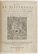 Airs de différents auteurs, mis en tablature de luth par Gabriel Bataille. Cinquiesme livre