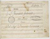 L'Imprudente Fortunato // Atto Primo // Musica // Del Sig.r Domenico Cimarosa