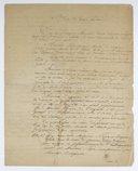 [Base du traité provisoire entre Nicéphore Niépce et Daguerre] : [brouillon]