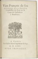Vers françois de feu Estienne de La Boëtie,... [Publiés par Montaigne.]