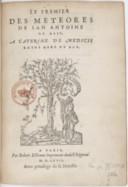 Le Premier des Météores, de Jan Antoine de Baïf...