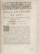 Image from object titled Déclaration... concernant les communautés de papetiers et de cartiers... Registrée en Parlement le 23 [mars 1779]...