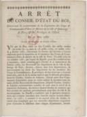 Image from object titled Arrêt du conseil d'Etat concernant le recouvrement de la capitation des corps et communautés d'arts et métiers de Paris, et des privilégiés de l'Hôtel