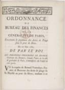 Image from object titled Ordonnance du bureau des finances de la généralité de Paris concernant le payement des droits de péage sous le pont de Sèves