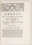 Image from object titled Arrêt du conseil d'Etat qui fait défenses au Sr Subé de continuer la perception du droit de péage par terre sur le territoire de Frignicourt