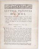 Lettres patentes... portant ratification de la Convention [ci-incluse] signée le 16 août 1768, entre le Roi et le cardinal de Hutten, prince et évêque de Spire, pour l'abolition du droit d'aubaine... Registrées en...